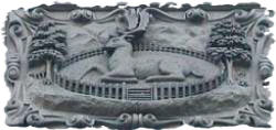 The crest of Derby - The Buck-in-the-park. This crest can be seen on many builings in the city of Derby, Derbyshire England.